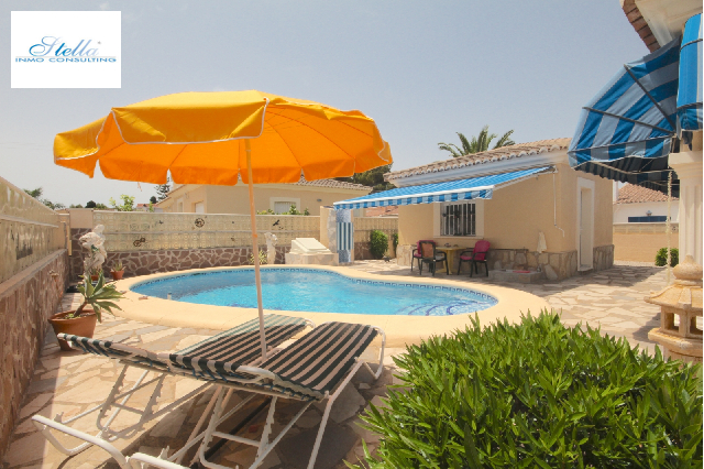 villa in Els Poblets(Sorts de la Mar ) for sale, built area 200 m², year built 2000, condition neat, + central heating air-condition yes, plot area 540 m², 3 bedroom, 2 bathroom, swimming-pool yes, ref.: AS-1518-2