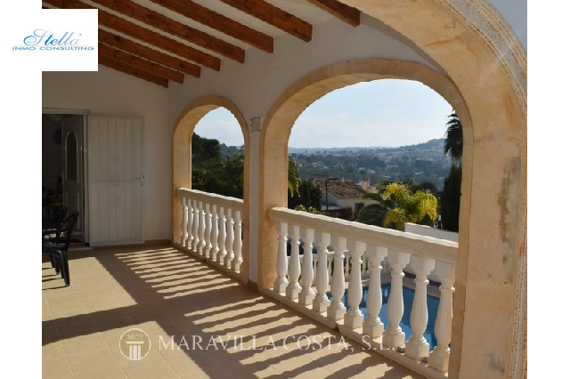 villa in Javea for sale, built area 260 m², + central heating air-condition yes, plot area 1200 m², 4 bedroom, 4 bathroom, swimming-pool yes, ref.: MV-2403-7