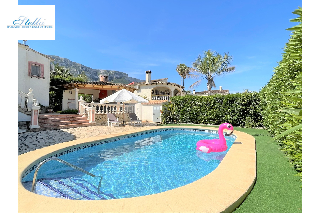 villa in Denia for holiday rental, built area 350 m², year built 2000, condition neat, + central heating air-condition yes, plot area 1000 m², 3 bedroom, 2 bathroom, swimming-pool yes, ref.: T-0415-3